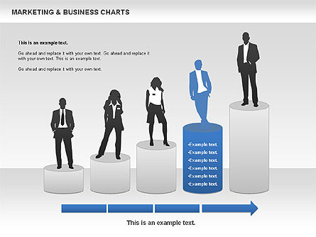 Marketing & Business Charts, Slide 6, 00712, Process Diagrams — PoweredTemplate.com