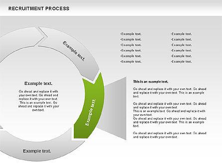 Recruitment Process Donut Diagram, Slide 2, 00714, Process Diagrams — PoweredTemplate.com