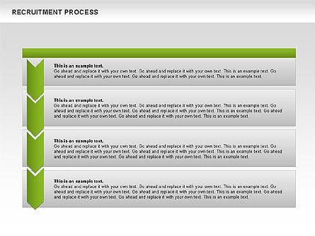 Recruitment Process Donut Diagram, Slide 3, 00714, Process Diagrams — PoweredTemplate.com