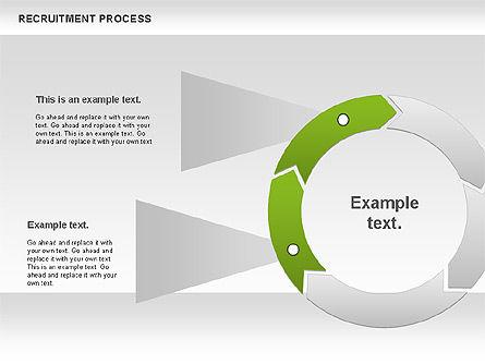 Recruitment Process Donut Diagram, Slide 4, 00714, Process Diagrams — PoweredTemplate.com