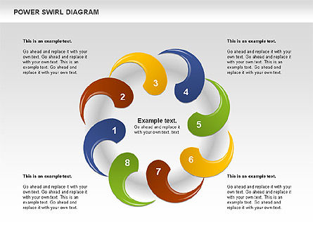Colorful Power Swirl Diagram, Slide 10, 00717, Shapes — PoweredTemplate.com