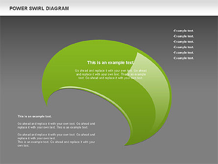 Colorful Power Swirl Diagram, Slide 12, 00717, Shapes — PoweredTemplate.com