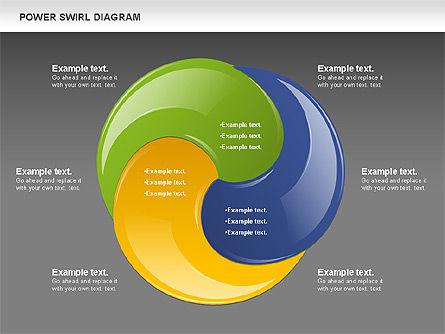 Colorful Power Swirl Diagram, Slide 13, 00717, Shapes — PoweredTemplate.com
