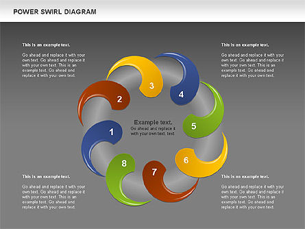 Colorful Power Swirl Diagram, Slide 14, 00717, Shapes — PoweredTemplate.com