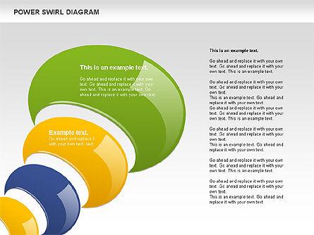 Colorful Power Swirl Diagram, Slide 5, 00717, Shapes — PoweredTemplate.com