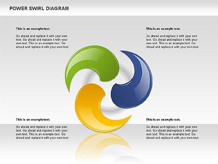 Colorful Power Swirl Diagram, Slide 7, 00717, Shapes — PoweredTemplate.com