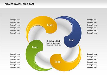 Colorful Power Swirl Diagram, Slide 8, 00717, Shapes — PoweredTemplate.com