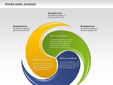 Colorful Power Swirl Diagram, Slide 9, 00717, Shapes — PoweredTemplate.com
