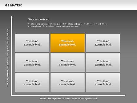 GE Matrix, Slide 12, 00718, Matrix Charts — PoweredTemplate.com