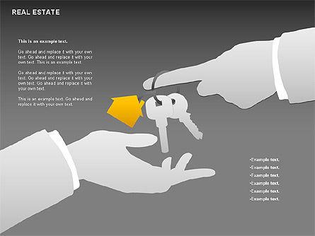 Real Estate Diagram, Slide 14, 00719, Business Models — PoweredTemplate.com