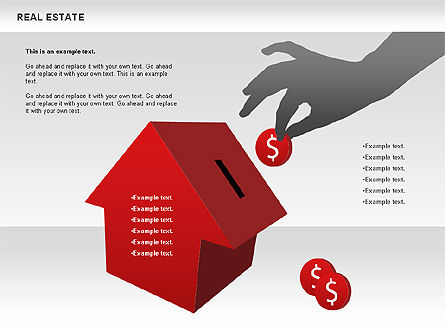 Real Estate Diagram, Slide 4, 00719, Business Models — PoweredTemplate.com