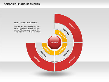 Pie Charts: Segments and Semicircle #00721