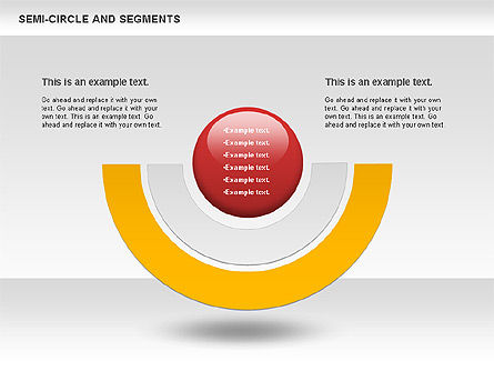 Segments and Semicircle, Slide 2, 00721, Pie Charts — PoweredTemplate.com