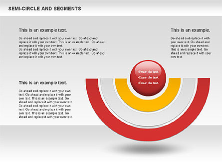 Segments and Semicircle, Slide 3, 00721, Pie Charts — PoweredTemplate.com