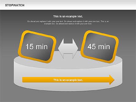 Stopwatch Diagram, Slide 13, 00724, Pie Charts — PoweredTemplate.com