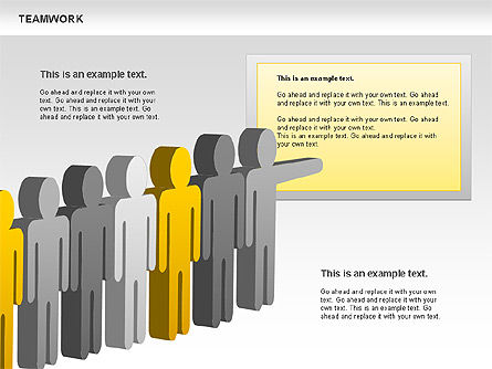Teamwork with Targets Diagram, Slide 5, 00725, Process Diagrams — PoweredTemplate.com