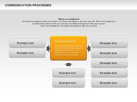 Communication Process Text Boxes Diagram, 00726, Process Diagrams — PoweredTemplate.com