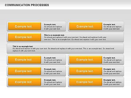 Communication Process Text Boxes Diagram, Slide 10, 00726, Process Diagrams — PoweredTemplate.com