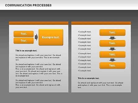 Communication Process Text Boxes Diagram, Slide 12, 00726, Process Diagrams — PoweredTemplate.com