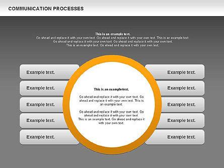 Communication Process Text Boxes Diagram, Slide 13, 00726, Process Diagrams — PoweredTemplate.com