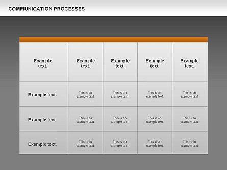 Communication Process Text Boxes Diagram, Slide 14, 00726, Process Diagrams — PoweredTemplate.com