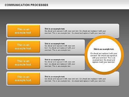 Communication Process Text Boxes Diagram, Slide 15, 00726, Process Diagrams — PoweredTemplate.com