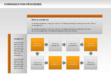 Communication Process Text Boxes Diagram, Slide 5, 00726, Process Diagrams — PoweredTemplate.com