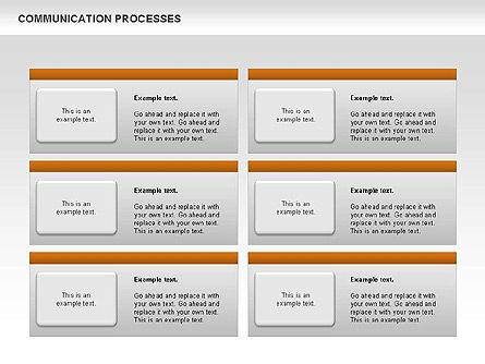 Communication Process Text Boxes Diagram, Slide 7, 00726, Process Diagrams — PoweredTemplate.com
