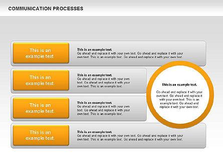 Communication Process Text Boxes Diagram, Slide 8, 00726, Process Diagrams — PoweredTemplate.com