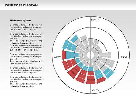 Windrose Diagram, Slide 2, 00727, Business Models — PoweredTemplate.com