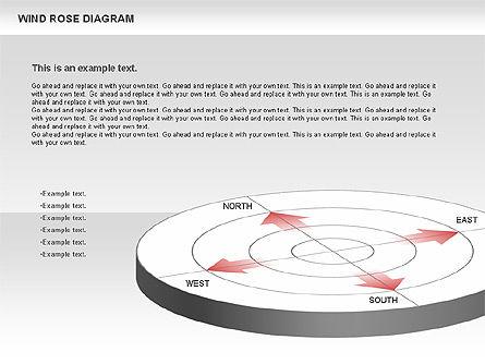 Windrose Diagram, Slide 3, 00727, Business Models — PoweredTemplate.com