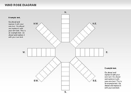 Windrose Diagram, Slide 4, 00727, Business Models — PoweredTemplate.com