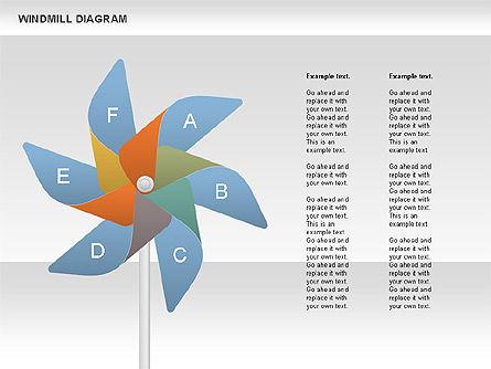 Windmill Diagram, Slide 3, 00728, Business Models — PoweredTemplate.com