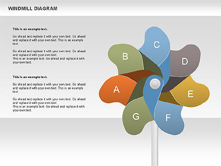 Windmill Diagram, Slide 4, 00728, Business Models — PoweredTemplate.com
