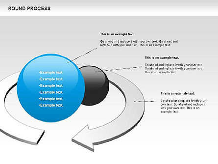 Round Process Diagram, 00729, Process Diagrams — PoweredTemplate.com