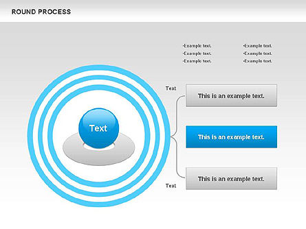 Round Process Diagram, Slide 2, 00729, Process Diagrams — PoweredTemplate.com
