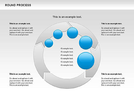 Round Process Diagram, Slide 4, 00729, Process Diagrams — PoweredTemplate.com