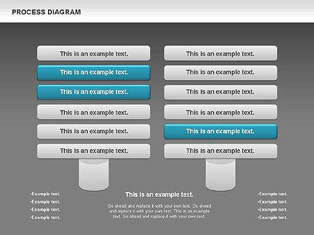 Process Timeline Diagram, Slide 11, 00730, Process Diagrams — PoweredTemplate.com