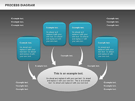 Process Timeline Diagram, Slide 12, 00730, Process Diagrams — PoweredTemplate.com