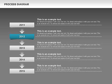 Process Timeline Diagram, Slide 13, 00730, Process Diagrams — PoweredTemplate.com