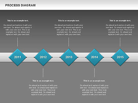 Process Timeline Diagram, Slide 14, 00730, Process Diagrams — PoweredTemplate.com