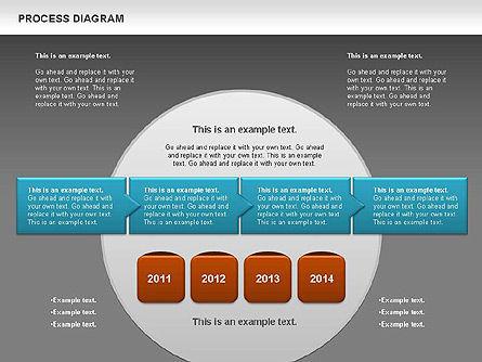 Process Timeline Diagram, Slide 15, 00730, Process Diagrams — PoweredTemplate.com