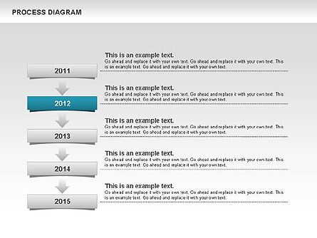 Process Timeline Diagram, Slide 4, 00730, Process Diagrams — PoweredTemplate.com