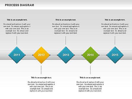 Process Timeline Diagram, Slide 5, 00730, Process Diagrams — PoweredTemplate.com
