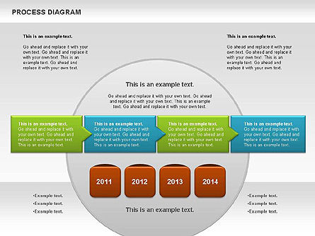 Process Timeline Diagram, Slide 6, 00730, Process Diagrams — PoweredTemplate.com