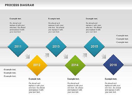 Process Timeline Diagram, Slide 7, 00730, Process Diagrams — PoweredTemplate.com