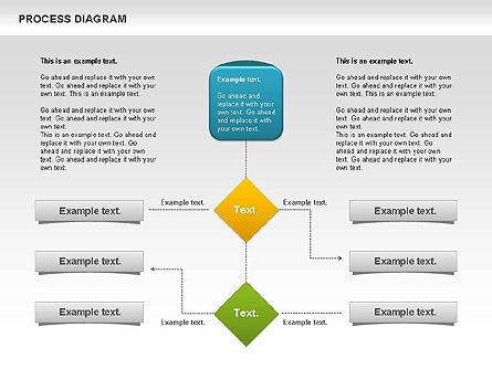Process Timeline Diagram, Slide 8, 00730, Process Diagrams — PoweredTemplate.com