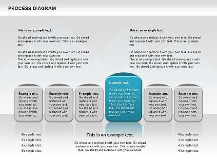 Process Timeline Diagram, Slide 9, 00730, Process Diagrams — PoweredTemplate.com