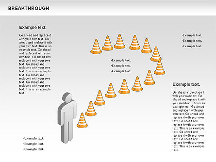 Breakthrough Cones Diagram, Slide 2, 00732, Business Models — PoweredTemplate.com