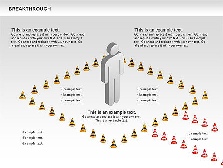 Breakthrough Cones Diagram, Slide 3, 00732, Business Models — PoweredTemplate.com